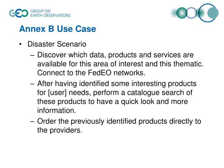 Annex B Use Case