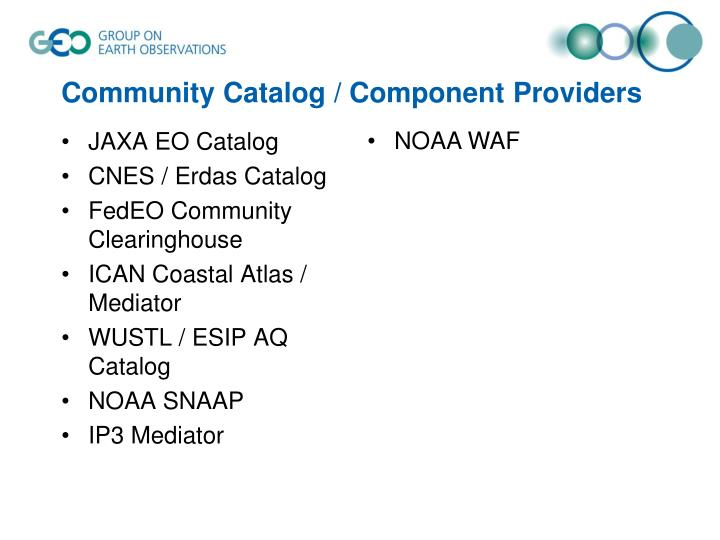 Community Catalog / Component Providers