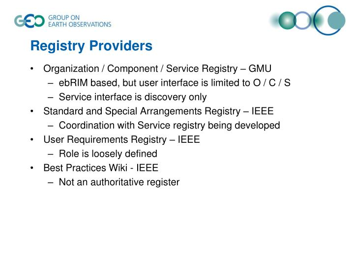 Registry Providers