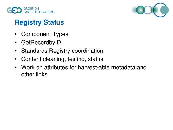 Registry Status