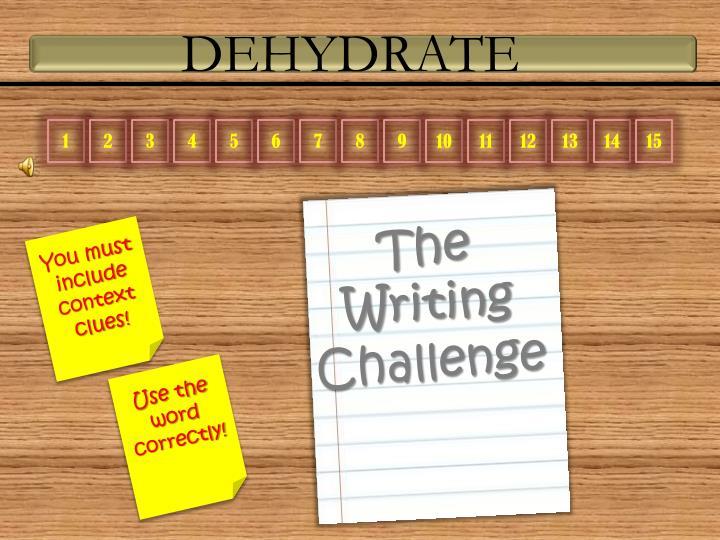 DEHYDRATE