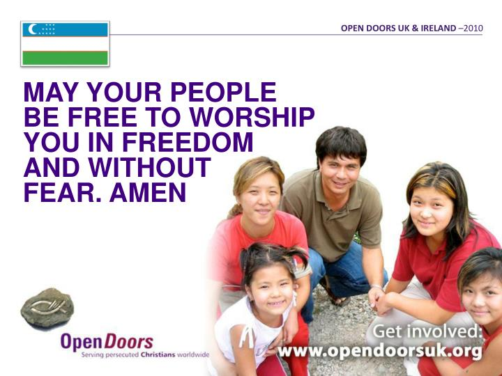 OPEN DOORS UK & IRELAND