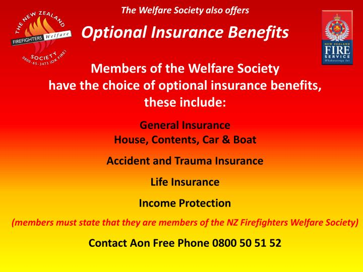 The Welfare Society also offers