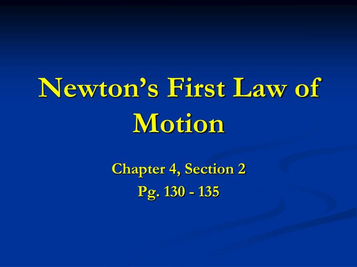 newton s first law of motion n.