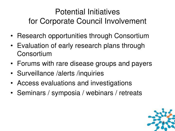 Potential Initiatives