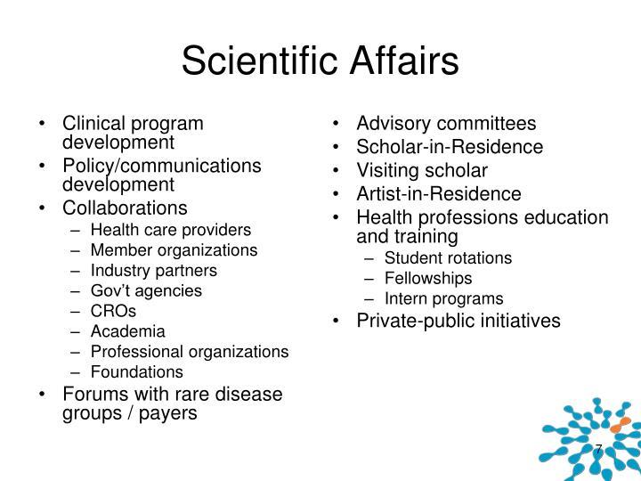 Scientific Affairs