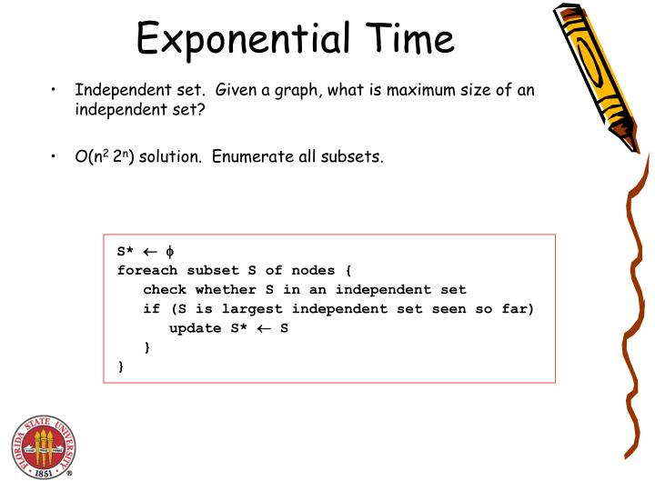 Exponential Time