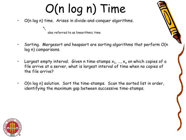 O(n log n) Time