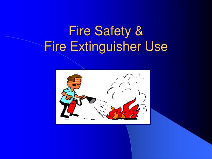 Fire safety fire extinguisher use