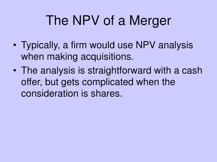 net present value mergers and acquisitions 1 answer to i have attached part i and ii of this final please show all work for this assignment my professor asked for detailed info on why & why not - 275391.