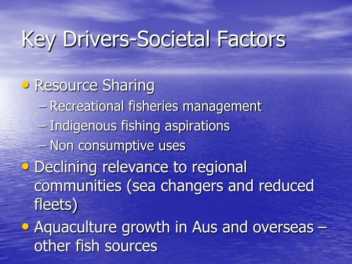 Key Drivers-Societal Factors