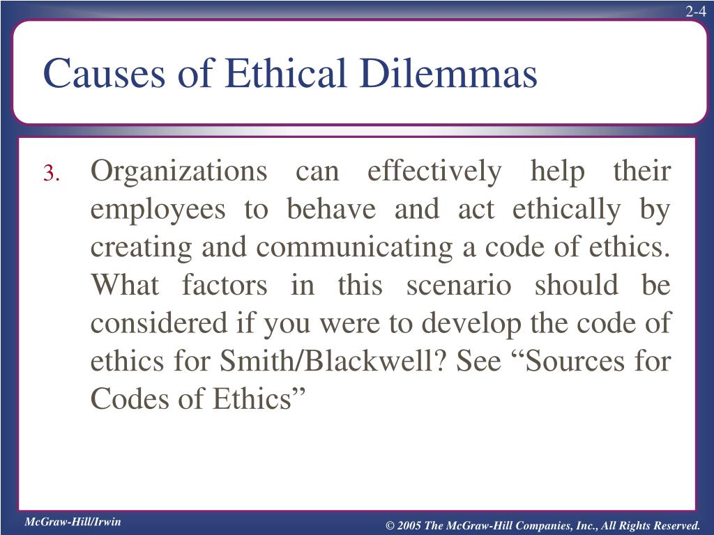 PPT - Causes of Ethical Dilemmas PowerPoint Presentation - ID:1779895