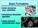 basic formations