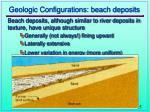 geologic configurations beach deposits