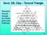 sand silt clay textural triangle