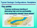 typical geologic configurations floodplains
