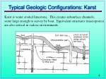 typical geologic configurations karst