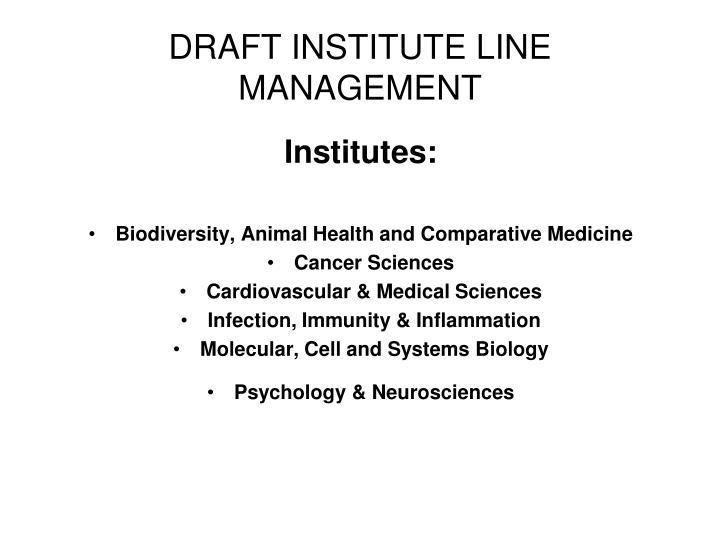 Institutes:
