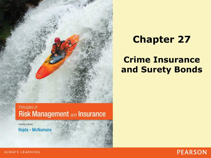 chapter 27 crime insurance and surety bonds n.