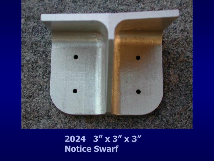"""2024   3"""" x 3"""" x 3""""                 Notice Swarf"""