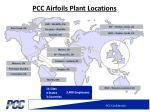 pcc airfoils plant locations