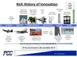 rich history of innovation