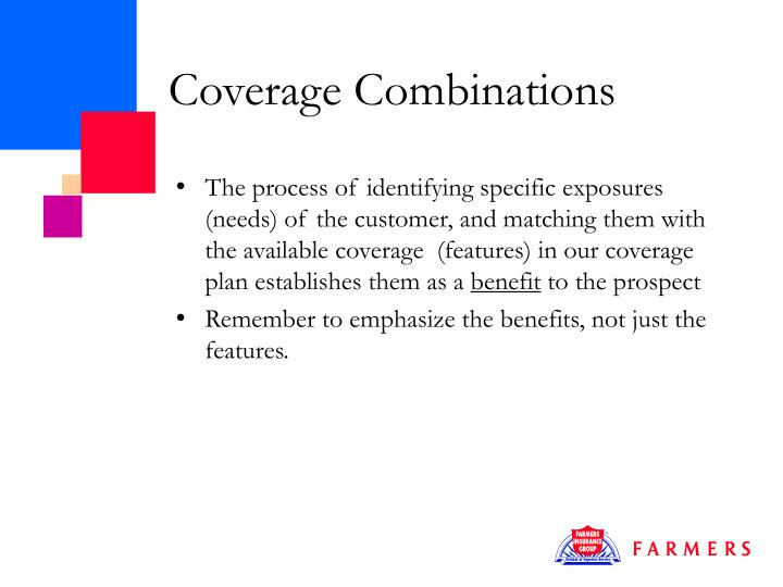Coverage Combinations