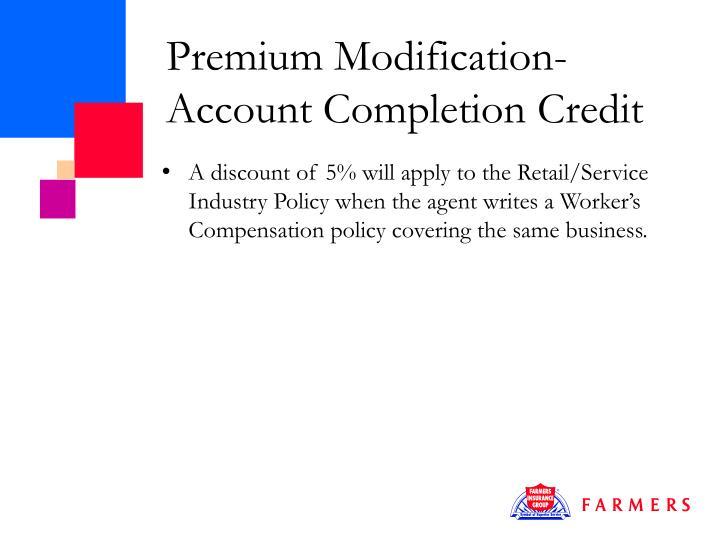 Premium Modification-