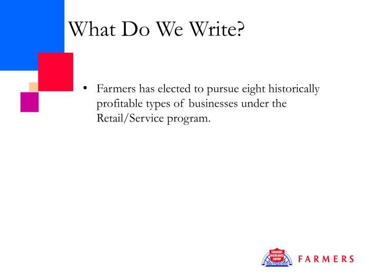 What do we write