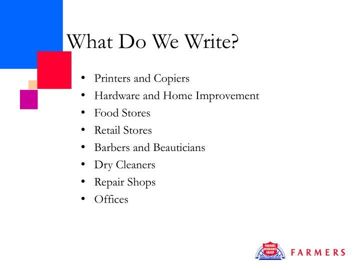 What do we write1