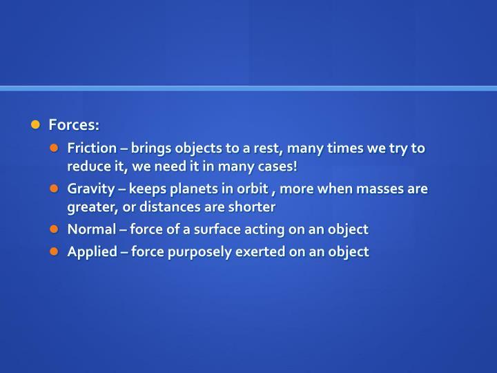 Forces: