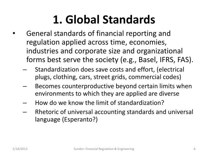 1. Global Standards