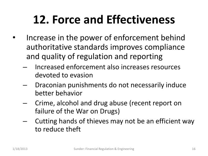 12. Force and Effectiveness