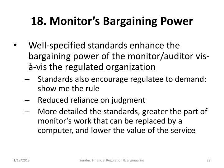 18. Monitor's Bargaining Power