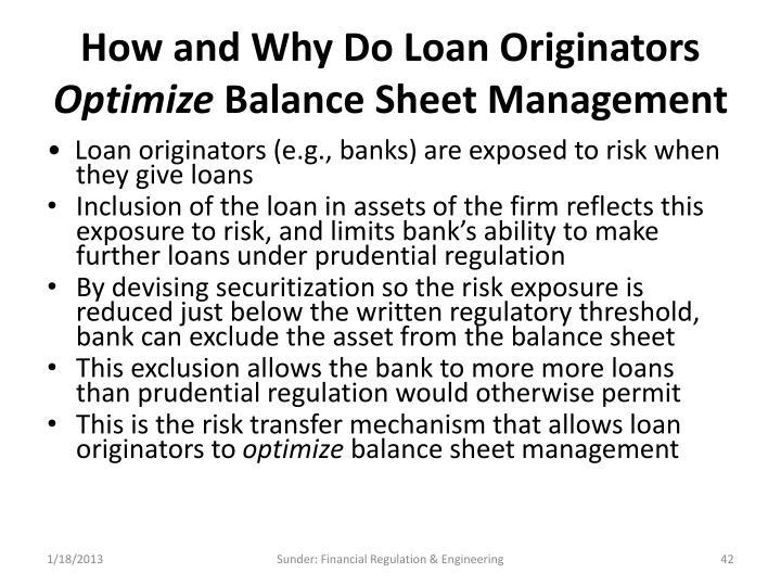 How and Why Do Loan Originators
