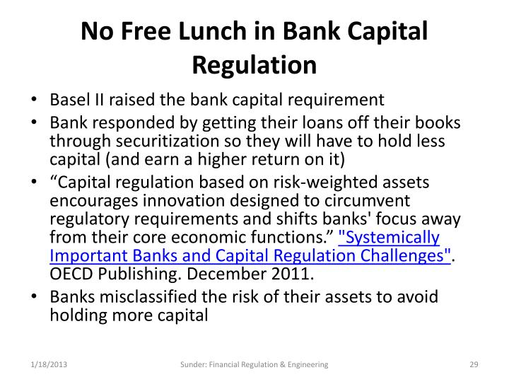 No Free Lunch in Bank Capital Regulation