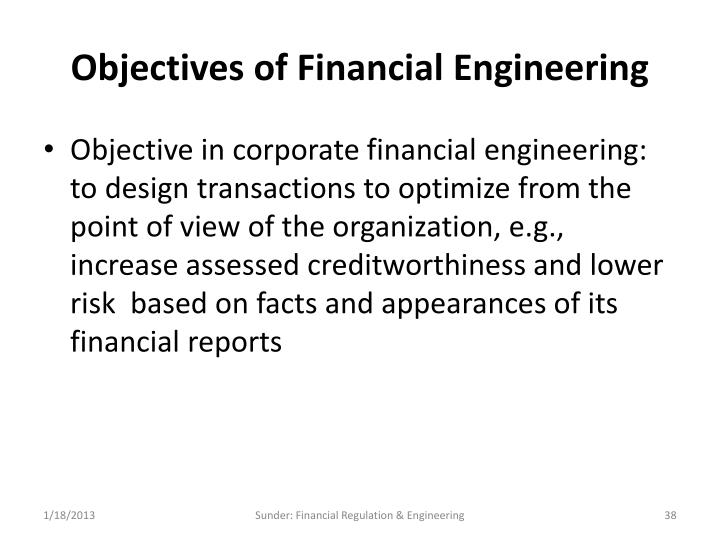 Objectives of Financial Engineering