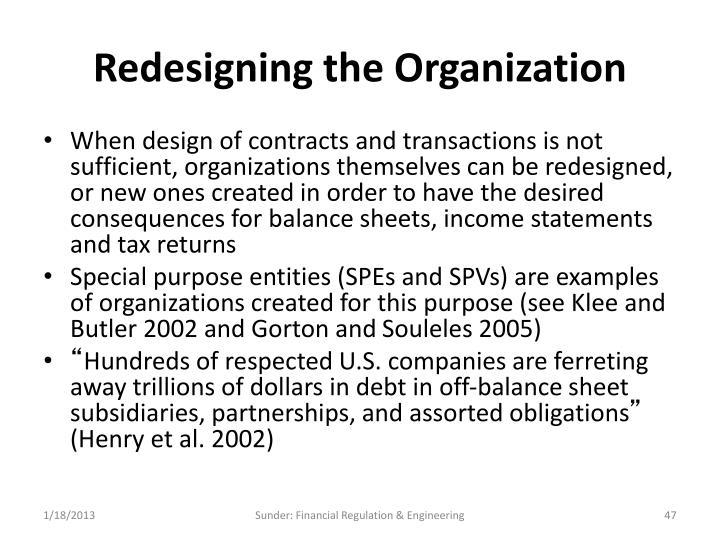 Redesigning the Organization