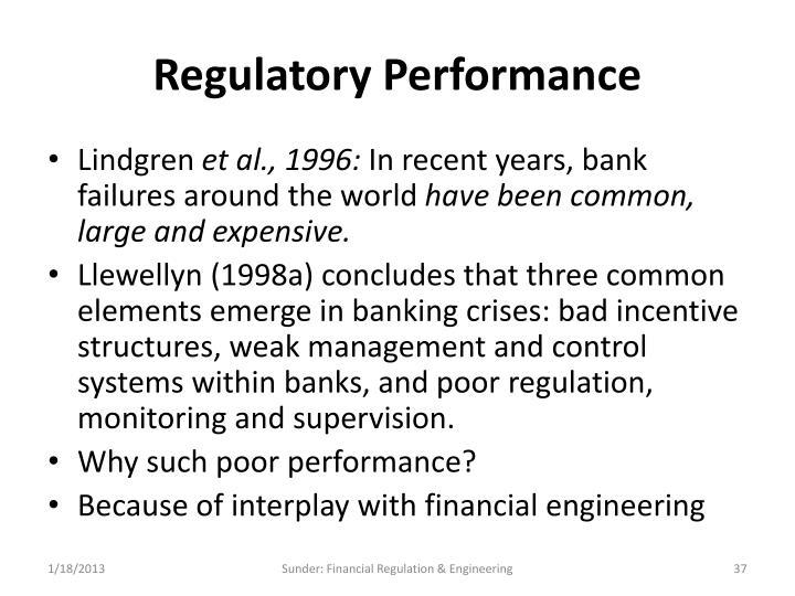 Regulatory Performance