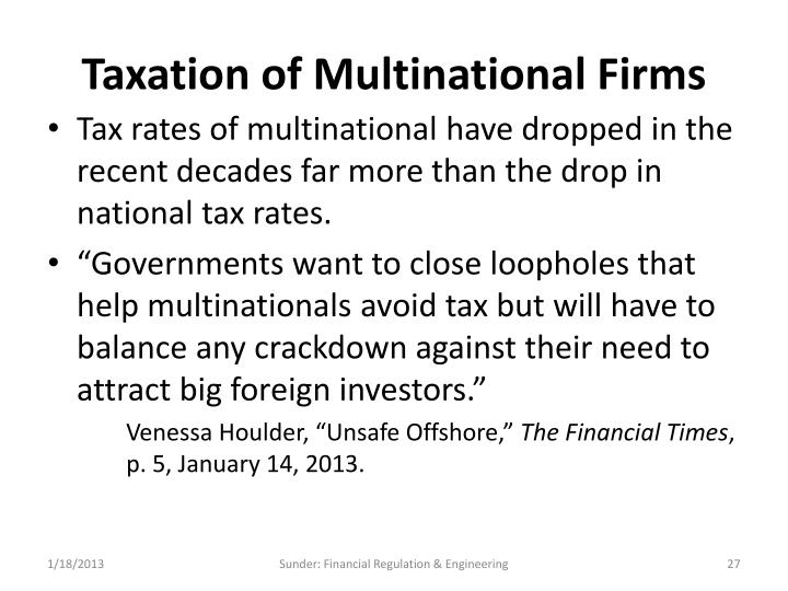 Taxation of Multinational Firms