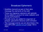 broadcast ephemeris