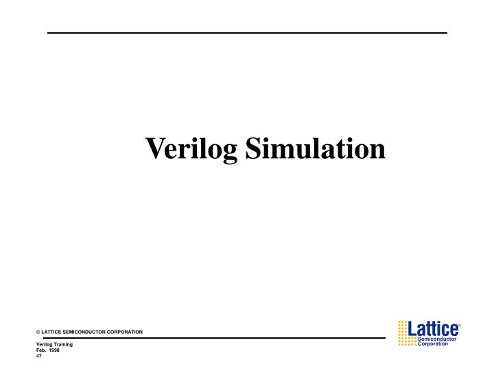 Verilog Simulation