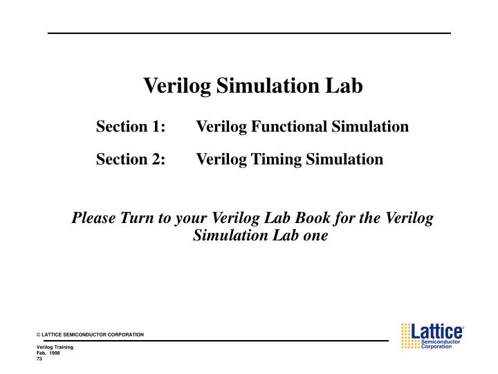 Verilog Simulation Lab
