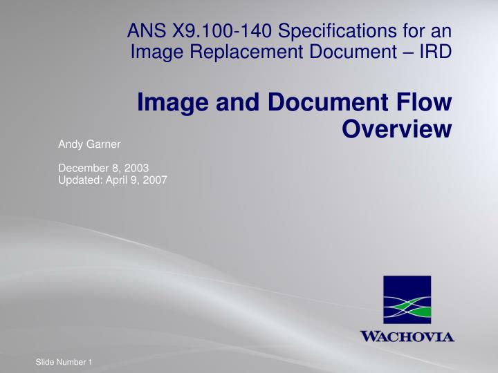 ANS X9.100-140 Specifications for an