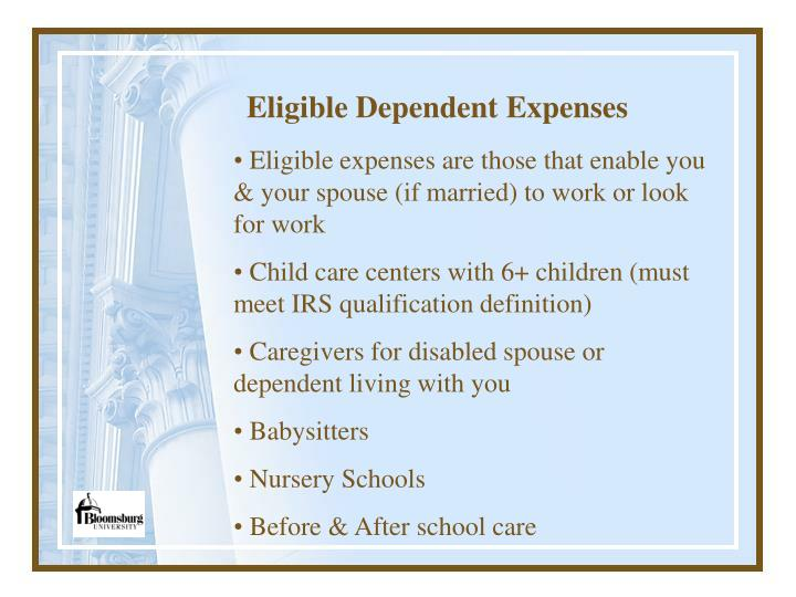 Eligible Dependent Expenses