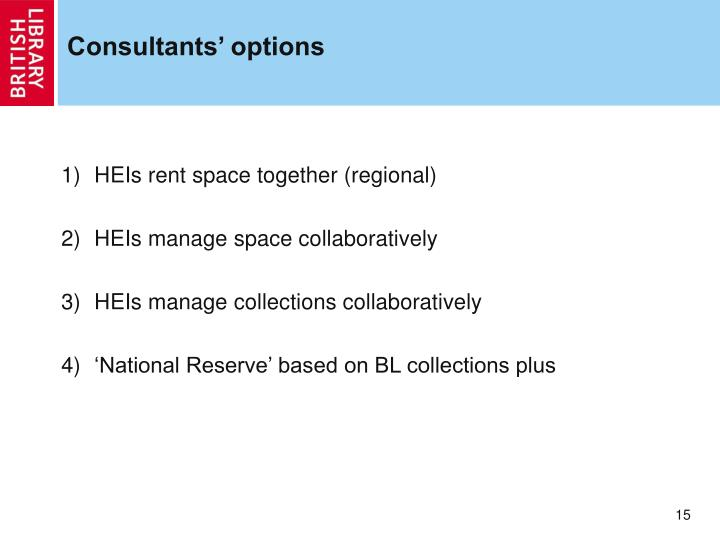 Consultants' options