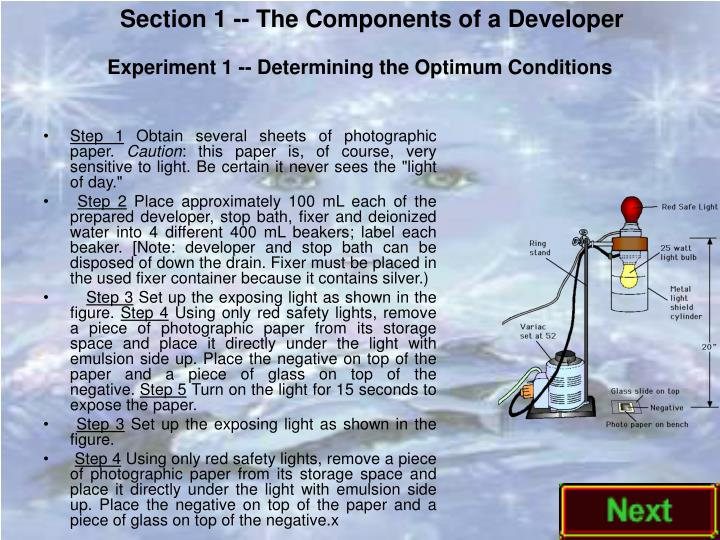 Section 1 -- The Components of a Developer
