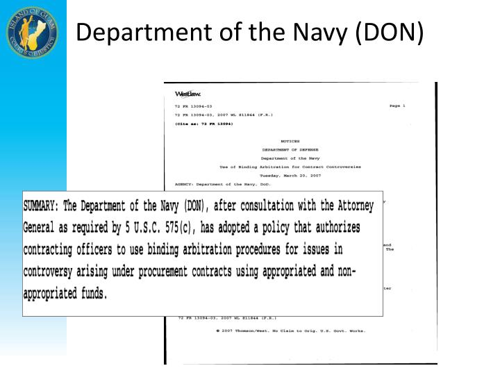 Department of the Navy (DON)