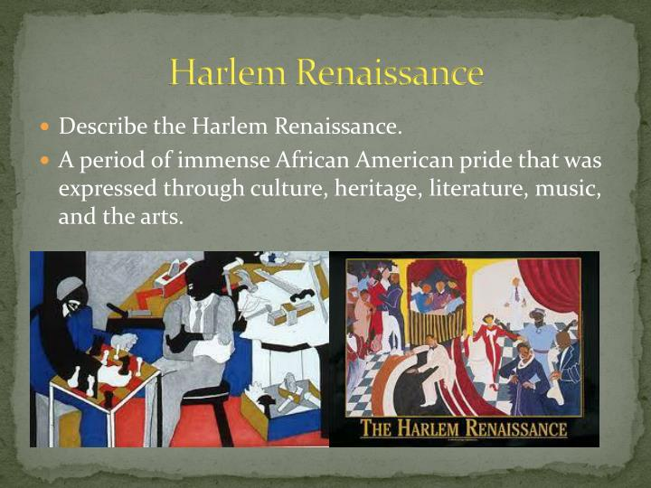 poetry and harlem renaissance