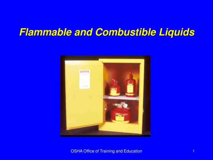 flammable and combustible liquids n.